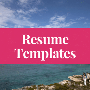 resumes and cover letters templates get a job