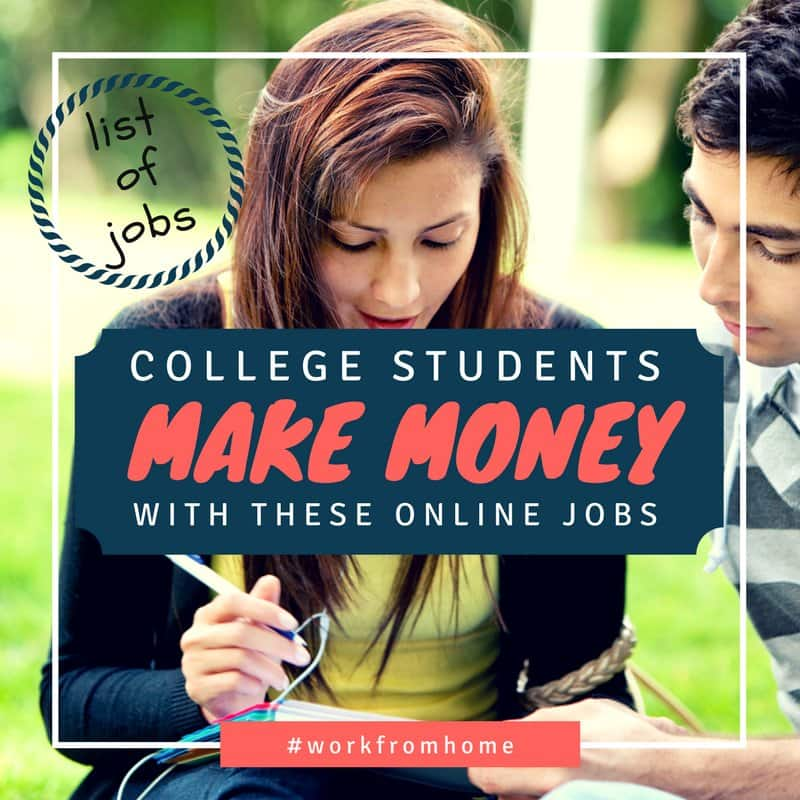 make money online for college students college students long list of online jobs gigs savings 3420