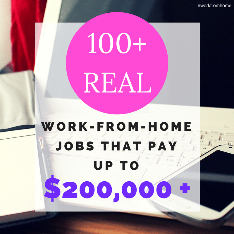 real work from home jobs that pay well 100 real work from home jobs that pay 200 000 882 8554