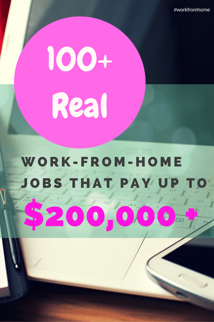real work from home jobs that pay well 100 real work from home jobs that pay 200 000 t222 2060