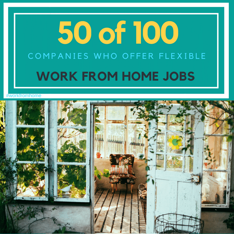 companies that offer work from home jobs listing 50 of 100 awesome companies offering flexible work 6580