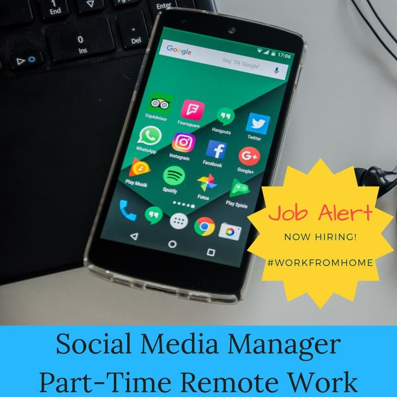 Workfromhome Social Media Part Time Work From Home Job