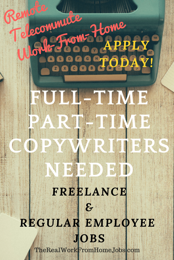 Proofreading and Copywriter Jobs – Work-from-Home Jobs