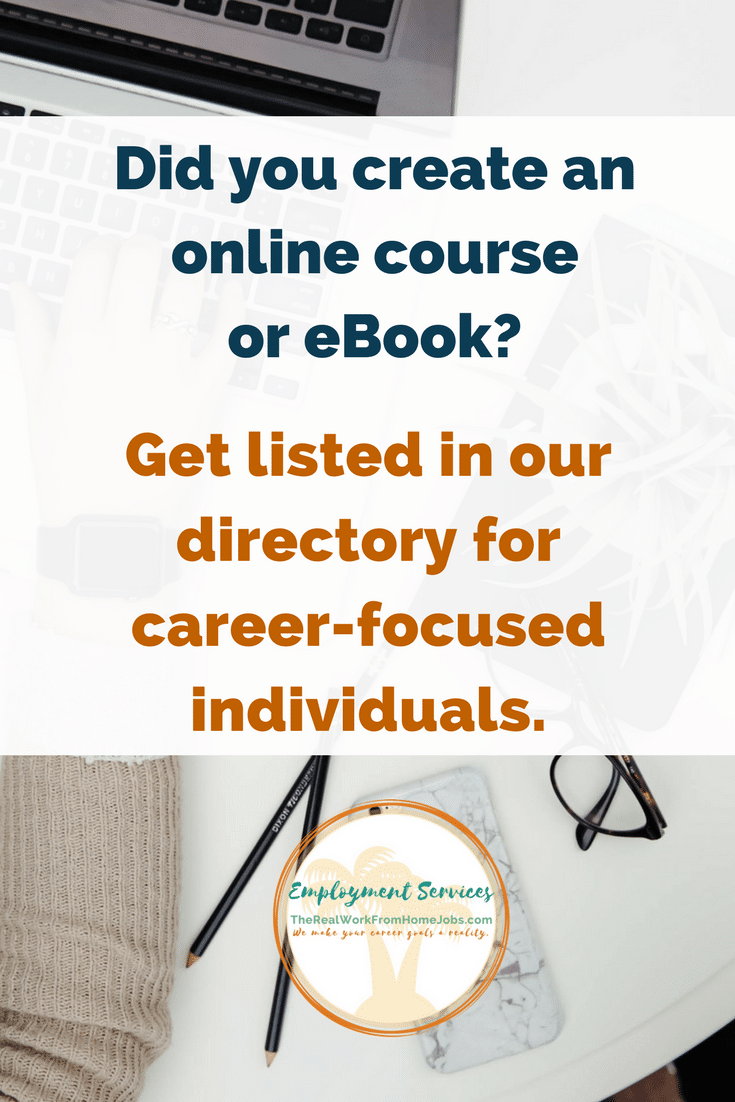 Online course or e-Book – Work-from-Home Jobs