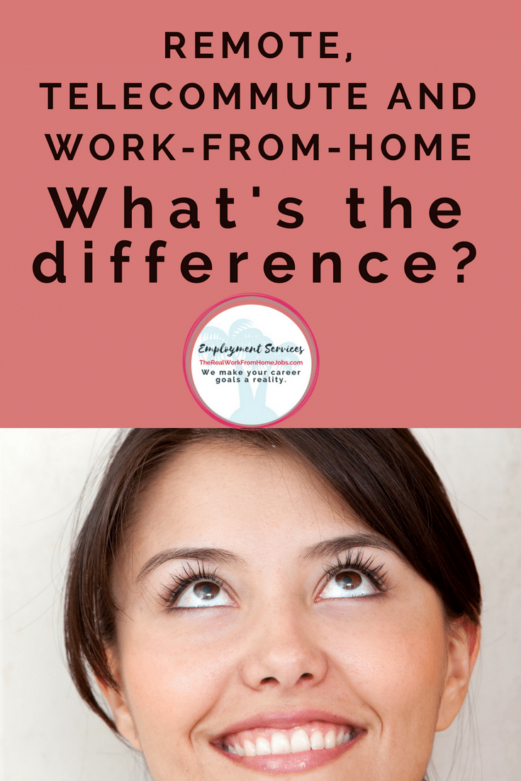 Remote, Telecommute and Work-from-Home