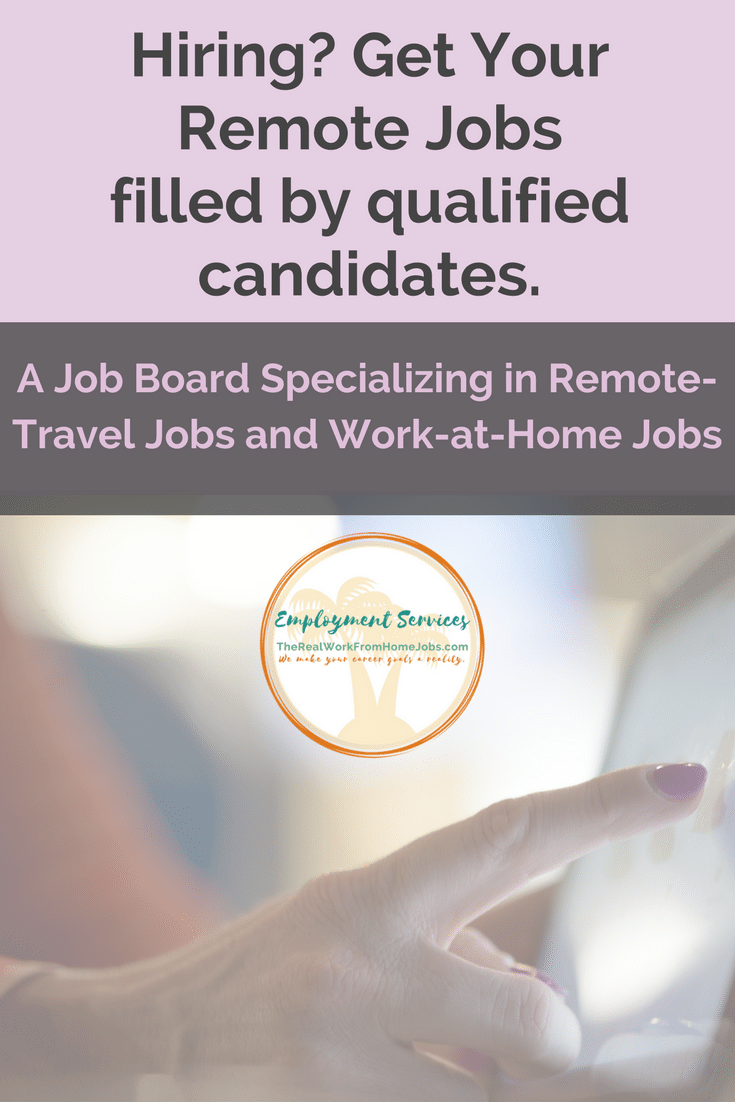Hiring? Post a remote-work travel job or work-at-home job in minutes. #workathome #job #hiring
