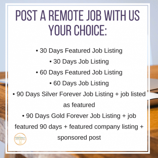 Post a Remote Job standard post