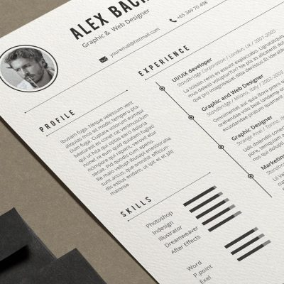 clean resumes templates cover letters-1