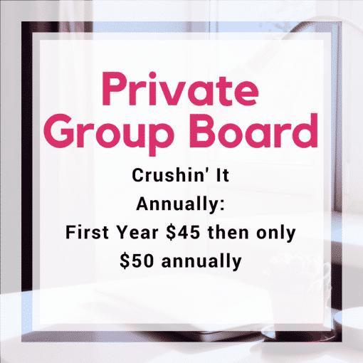 Private Annual Group Board