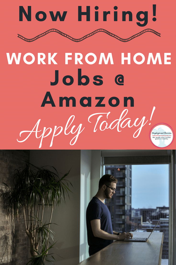Work at Home for Amazon - Amazon is hiring now for virtual remote, work-from-home jobs. #workfromhome #makemoneyonline #jobs #remotework #virtual #home #jobs