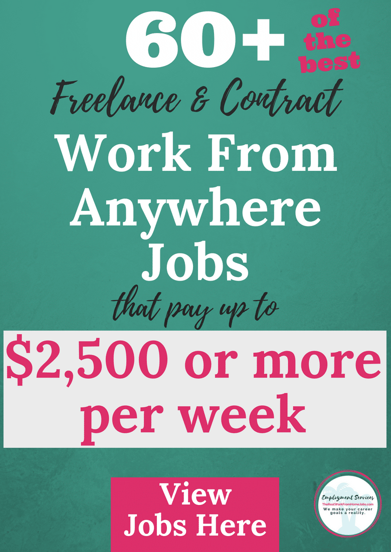 Best Work From Home Freelance + Contract Jobs