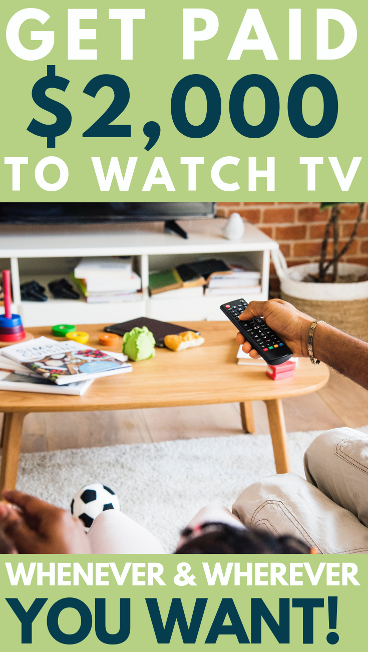 Get paid $2,000 to watch TV - Work from Home whenever you want to work.