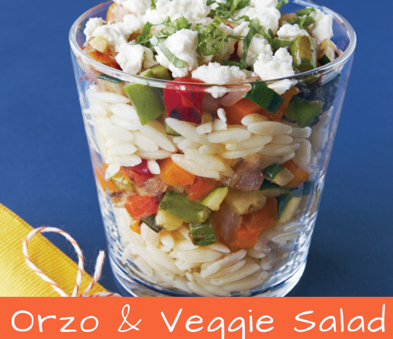 Organic Orzo and Grilled Veggie Salad
